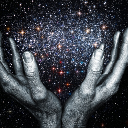 Hands Holding Stars