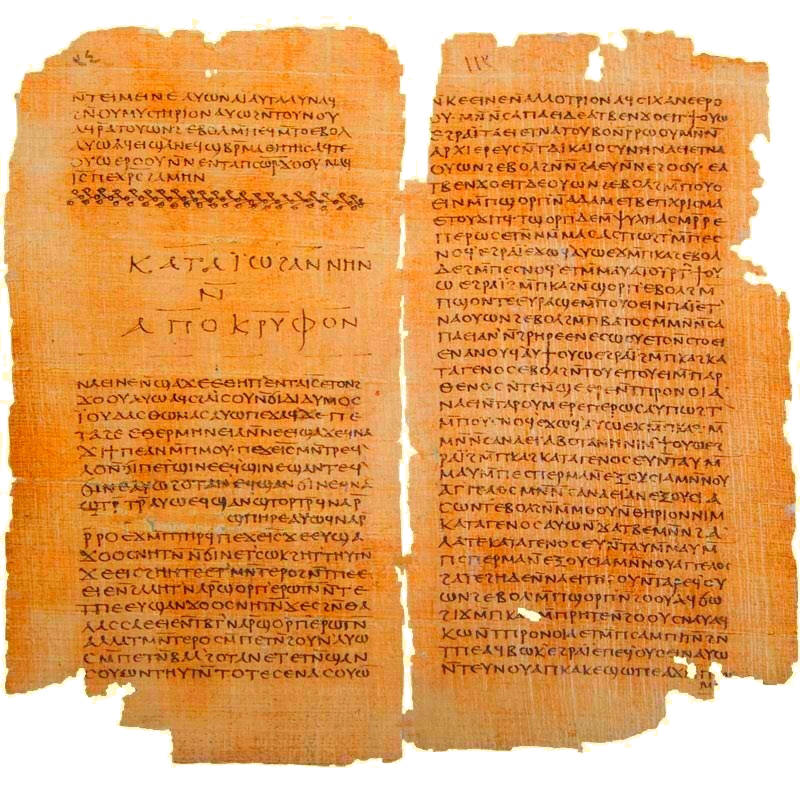 Gospel of Thomas and The Secret Book of John (Apocryphon of John), Codex II The Nag Hammadi manuscripts.