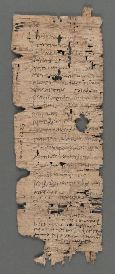 An Ancient Papyrus Bill of Sale