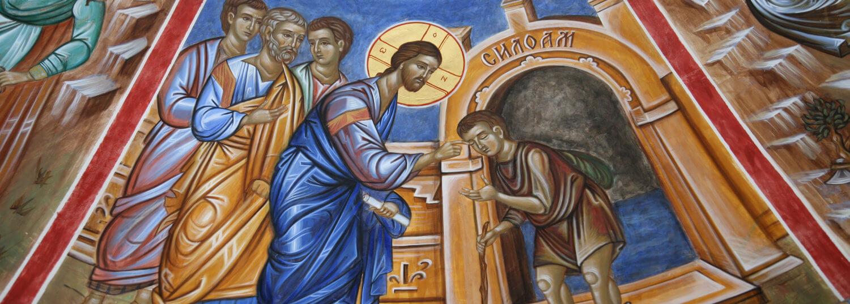 Jesus teaching his followers to heal.