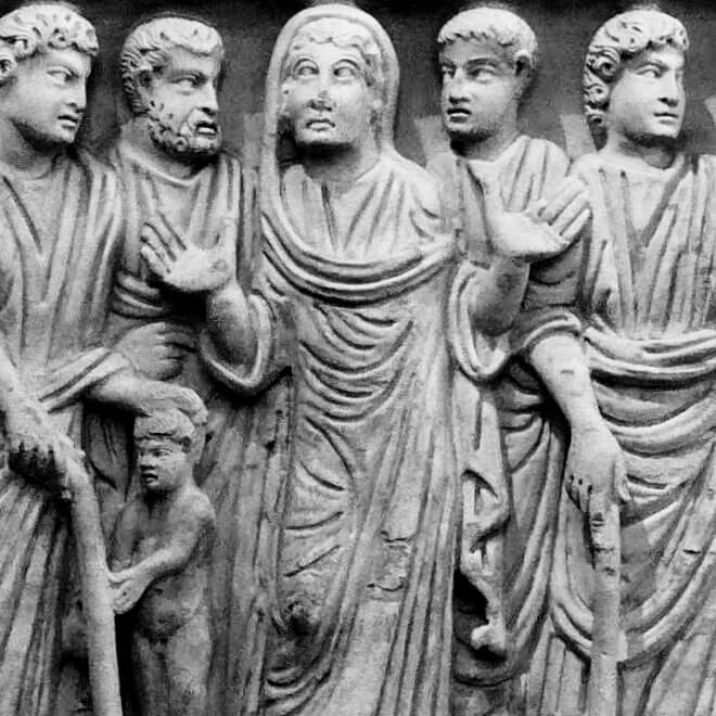 Detail from the Sarcophagus of Claudio, ca 350
