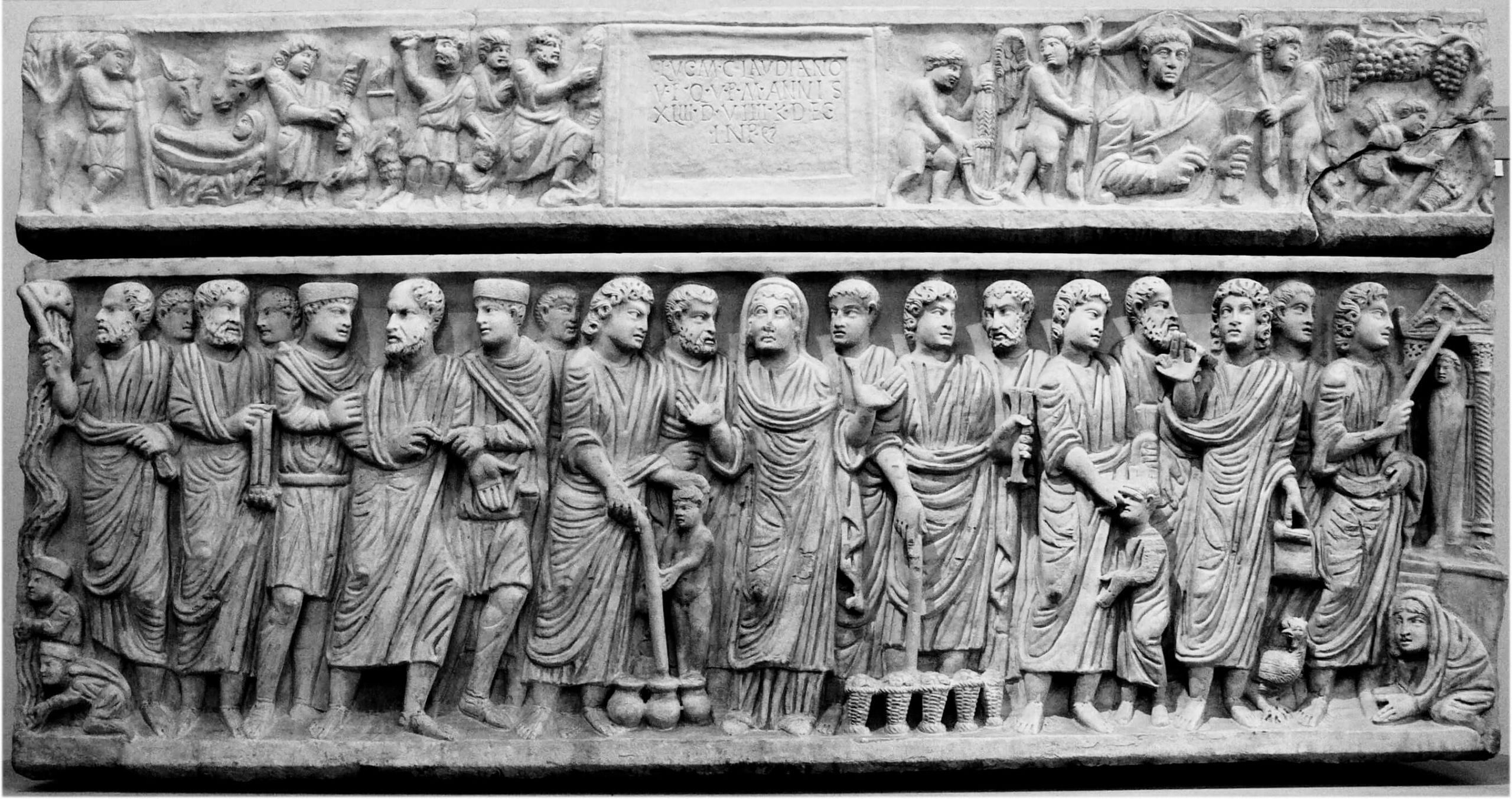 Sarcophagus of Claudio, ca 350, Museo Nazionale Romano, Rome