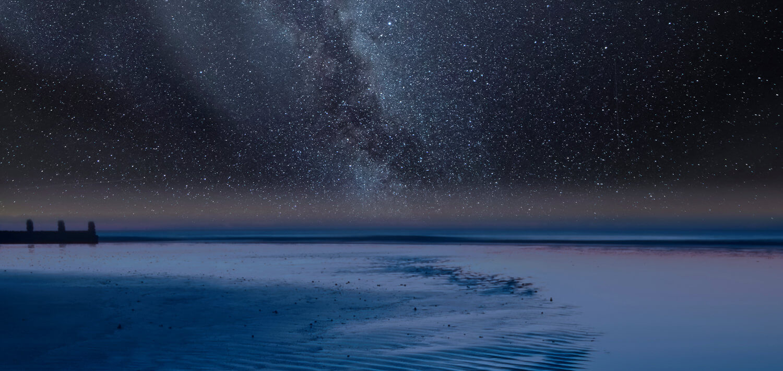 Shore, Ocean, and the Milky Way