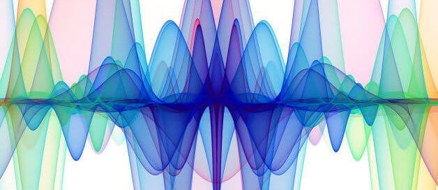 Colorful abstract sound wave image